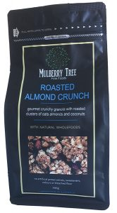 Roasted Almond Crunch granola by Mulberry Tree