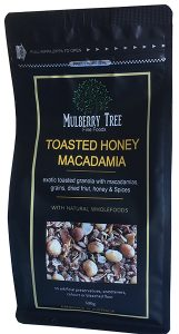Toasted Honey Macadamia granola by Mulberry Tree